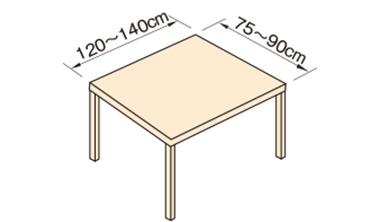 4人掛け用テーブルの場合