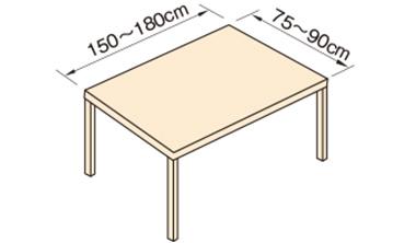 6人掛け用テーブルの場合