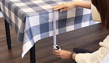 一般的なテーブルクロスのサイズ