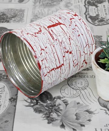 ブリキ 缶 ペイント DIY