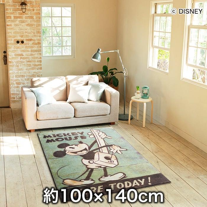 スミノエ ディズニーラグマット MICKEY/Music RUG(ミュージックラグ) 約100×140cm