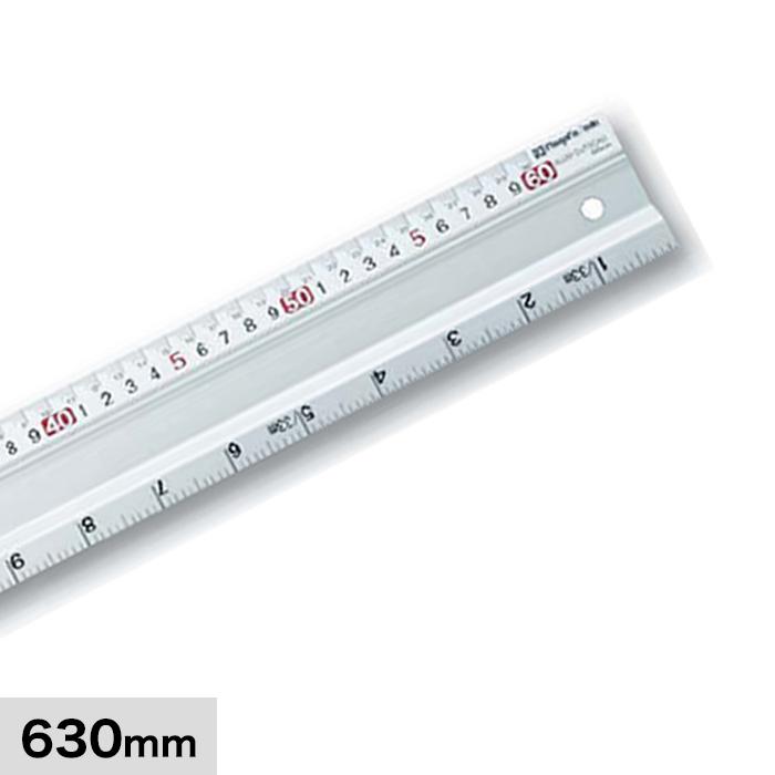 計測道具 アルミカットスケール 長さ630mm ACS-60